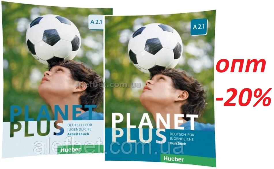 Немецкий язык / Planet Plus / Kursbuch+Arbeitsbuch. Учебник+Тетрадь (комплект), A2.1 / Hueber