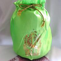 Мешочек свадебный для сбора денег, Салатовый