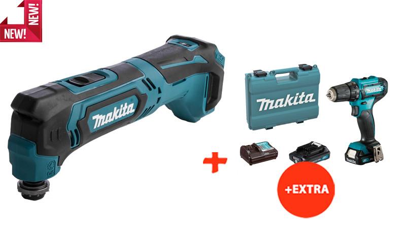Аккумуляторный многофункциональный инструмент Makita TM30DZ+аккумуляторный шуруповерт Makita DF333DWAE