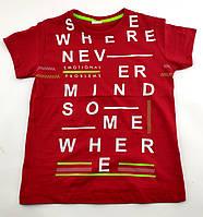 Детские футболки для мальчика 7 8 9 и 10 лет красная детская футболка с рисуноком Турция без рукавов летняя