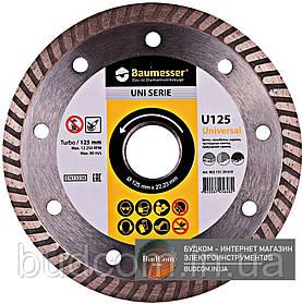 Алмазный круг Baumesser 1A1R Turbo 125x1,8x8x22,23 Universal