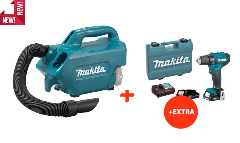 Аккумуляторный пылесос Makita CL121DZ+аккумуляторный шуруповерт Makita DF333DWYE (CL121SET2)
