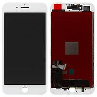 Дисплей для iPhone 7 Plus, модуль в сборе (экран и сенсор), с рамкой, белый, оригинал (100%)