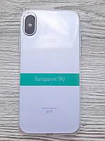 Чехол для iPhone X/XS силиконовый прозрачный Hoco TPU Transparent