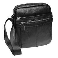 Мужская кожаная сумка через плечо Akor akK19980-black