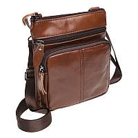 Мужская кожаная сумка Akor akK1701-brown