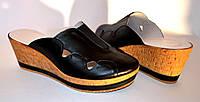 """Сабо женские кожаные черного цвета на платформе от производителя ТМ """"Maestro"""", фото 1"""