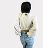 Короткий бежевый женский свитшот Unity, жіночий літній короткий світшот Unity, кремовий, фото 7