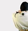 Короткий бежевый женский свитшот Unity, жіночий літній короткий світшот Unity, кремовий, фото 8