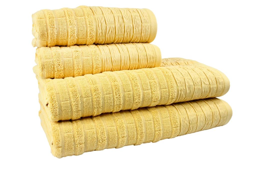 Махровое полотенце Daisy 70x140 см. Желтое (312548)