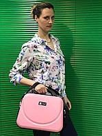 Дорожный бьюти-кейс Fly с креплением на чемодан, как дополнение к чемодану, розовый