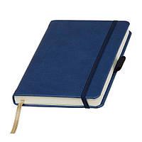 Записная книжка Туксон Ivory Line кремовый блок в линейку, кожзам, синяя