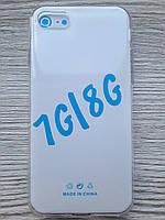 Чехол для iPhone 7/8 силиконовый прозрачный TPU Transparent