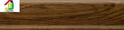 Плинтус пластиковый Salag 16 дуб болотный, плинтус с мягкими краями, плинтус напольный с кабель каналом.