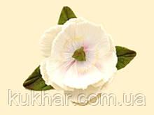Білі Півонії d=60 мм з листочками
