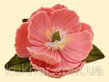 Рожеві Півонії d=60 мм з листочками 32шт