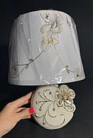 Настольная лампа с абажуром бежевый Е14