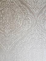 Текстильные обои на флизелиновой основе Cador Rasch Textil 086729 вензеля светло-серые с серебром, фото 1