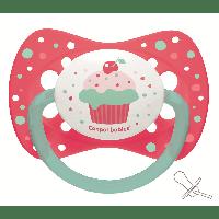 Пустышка силиконовая симетричная Canpol Babies Cupcake (0-6 мес) 1 шт.