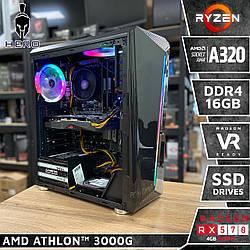 Hero A30. (RX 570 4gb | Athlon 3000G | A320 | 16Gb | SSD 120Gb)