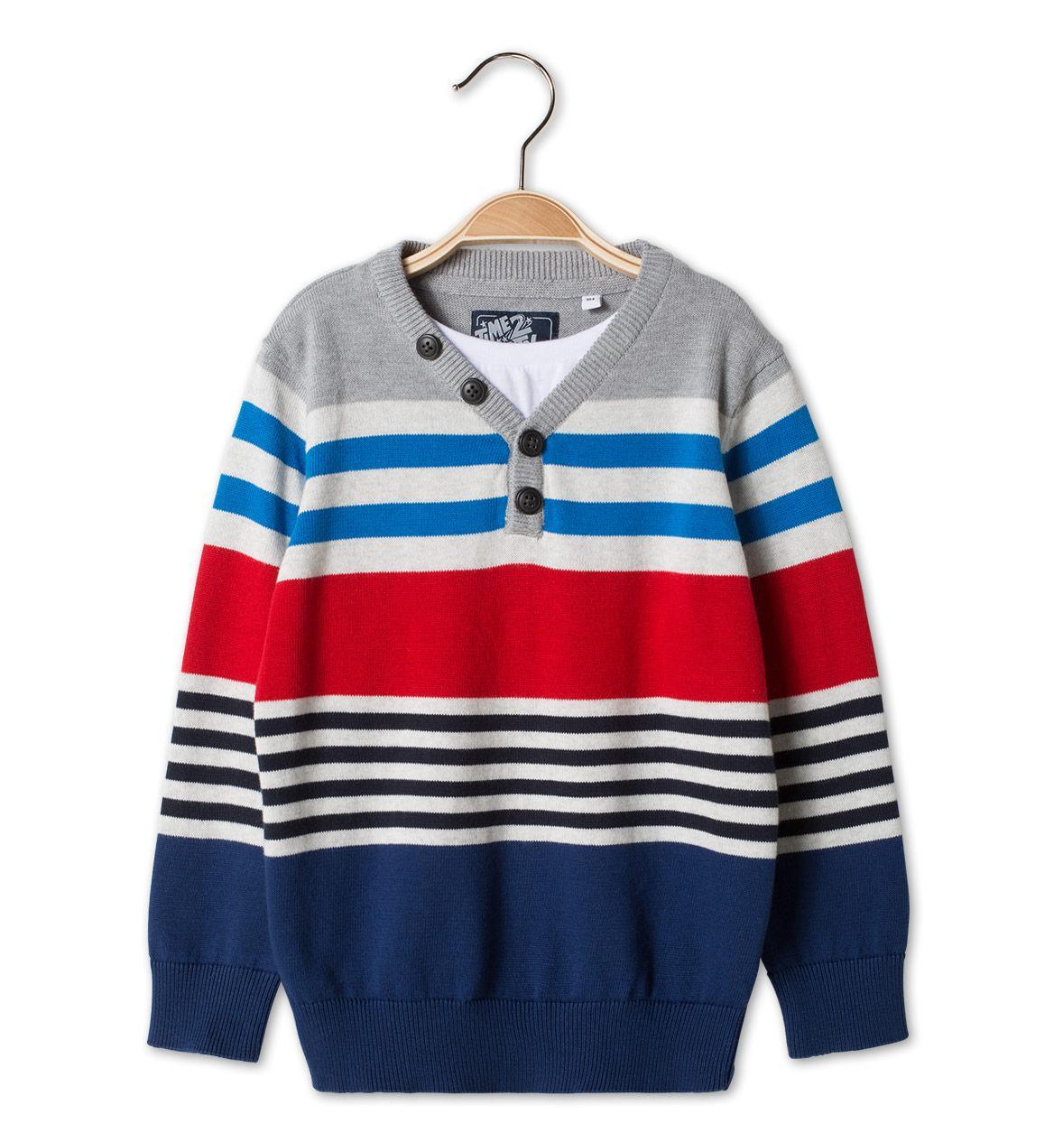 Полосатый свитер для мальчика C&A Германия Размер 122