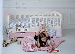 Детская кроватка с бортиками от 3 лет (подростковая) Baby Dream