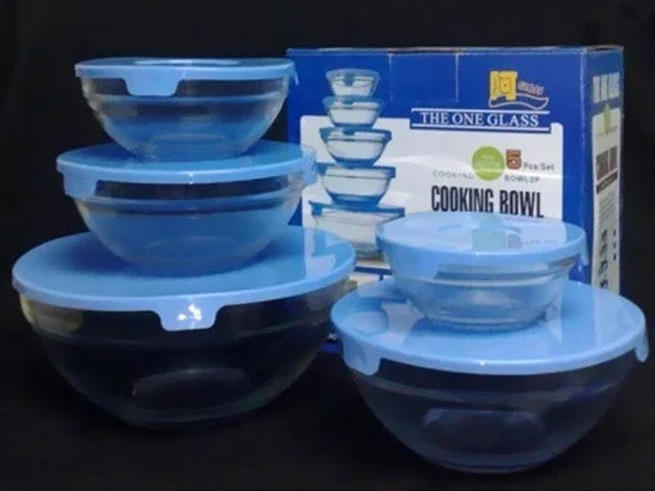 Набор стеклянных емкостей с крышками Trend-mix Cooking Bowl 5 шт