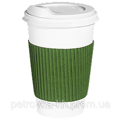 Термопояс - капхолдер склееный  250/340 мл. 25шт.(40/1000) Зеленый