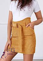 Вельветовая юбка с поясом  В 004 /05, фото 1
