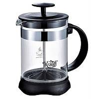 Френч-пресс 1л стеклянный чайник заварник 26-177-035 Krauff