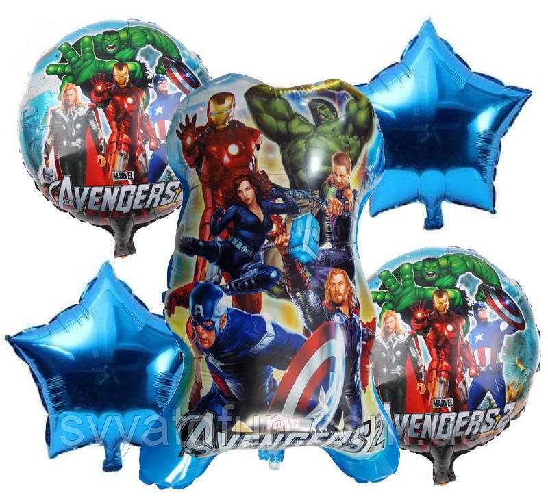 Набор фольгированных шаров Мстители 5 шт Китай