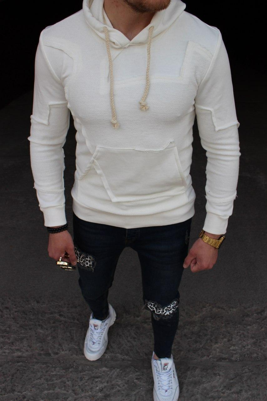 Мужская кофта M103 белая
