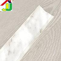Плинтус для столешницы Идеал 101 Мрамор белый с мягкими краями, бортик для столешницы IDEAL на кухню