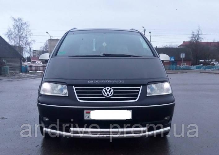 Защита переднего бампера (ус двойной) Volkswagen Sharan 1995-2010