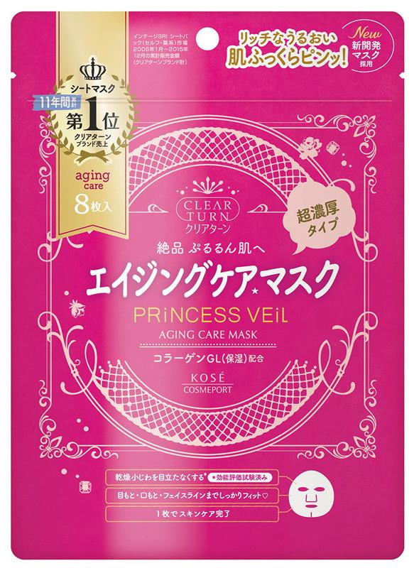 KOSE Princess Veil Anti-aging Care Mask маска антивіковий догляд, 8 шт