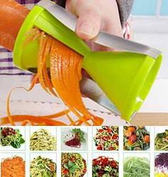 Спиральная овощерезка для декорирования блюд Fissman