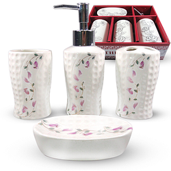 """Керамический набор для ванной комнаты S&T """"Сибирский колокольчик"""""""