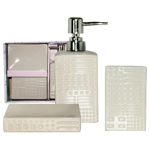 """Керамический набор для ванной комнаты S&T """"Алмаз"""""""