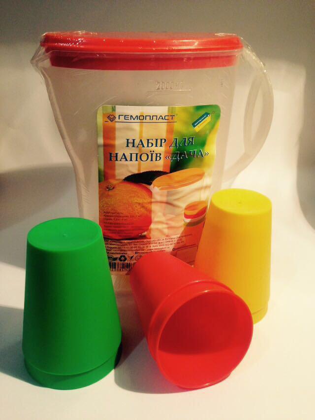 Набор Гемопласт кувшин + 6 стаканов