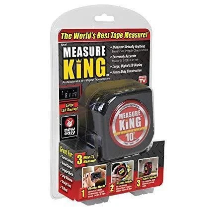 Рулетка Measure King 3 в 1 (лазер, шнур, ролик)