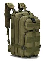 Штурмовой тактический военный туристический городской рюкзак For Tactic на 25л Зеленый