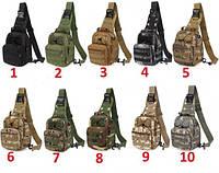 Сумка тактическая мужская на 7л через плечо, штурмовая, военная, армейская сумка рюкзак Oxford 600D