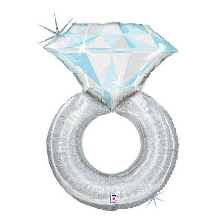 Фол шар МИНИ-ФИГУРА Обручальное кольцо Серебро (Грабо), фото 2