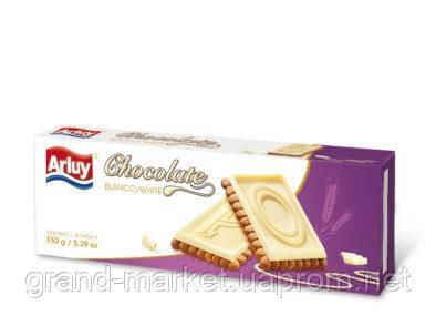 Печенье Arluy с белым шоколадом 150 г