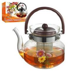 Стеклянный чайник - заварник Stenson 0,8 л