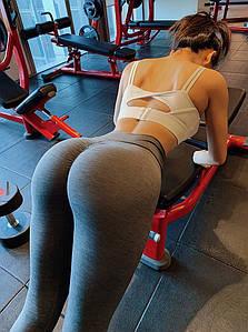 Женские спортивные леггинсы серые 4326