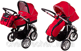 Детская универсальная коляска 2в1 QUATRO 3 красная