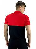 Мужская футболка поло Nike 21158 красно-черная, фото 3