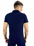 Мужская футболка поло Nike 21159 синяя, фото 3