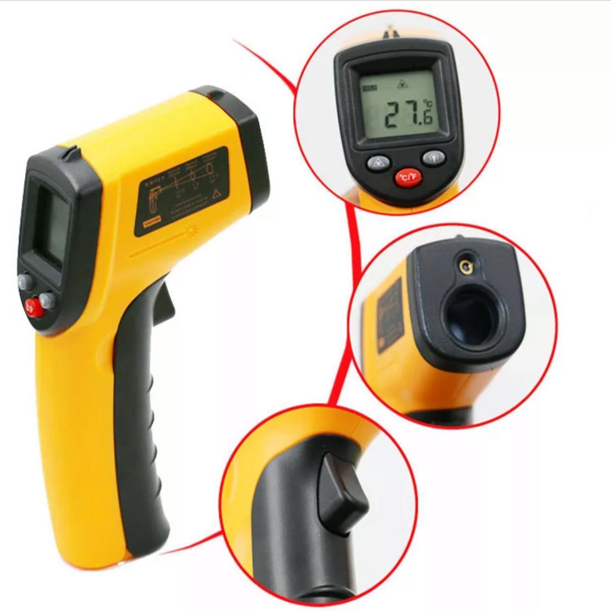 Промышленный инфракрасный бесконтактный термометр пирометр RZ GM320 -50 ~ +320 °С